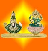 Gold Plated Venkateswara and Lakshmi Murti - GMV002