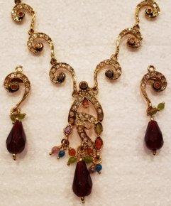 Indian One Gram Gold Jewelry Set - J031
