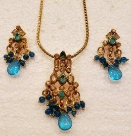 Indian One Gram Gold Jewelry Set - J032