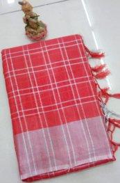 Indian Lenin Cotton Saree - J042