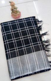 Indian Lenin Cotton Saree - J043