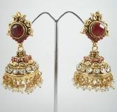One Gram Gold Jhumkas