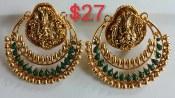One Gram Gold Large Ramleela Earrings