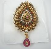 Indian One Gram Gold Jewelry Saree Pin - NOV611