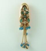 Indian One Gram Gold Jewelry Saree Pin - SP001